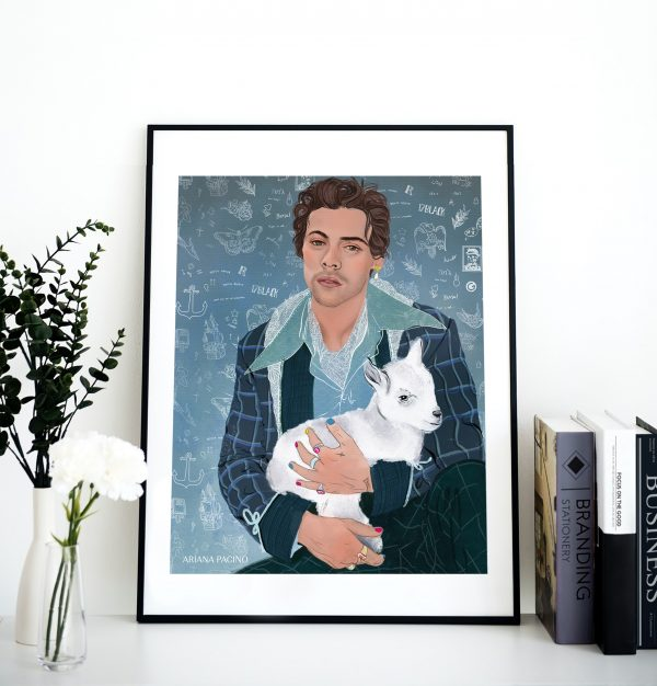 Harry Styles Framed Print by Ariana Pacino Illustration