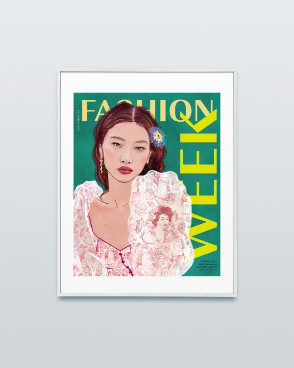 Framed HoYeon Jung Fashion Week Poster Bold by Ariana Pacino