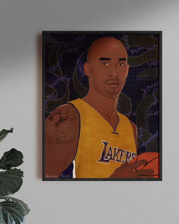 Kobe Bryant Portrait by Ariana Pacino