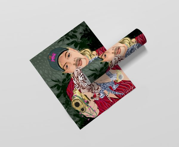 Tiger King Joe Exotic Poster Print by Ariana Pacino