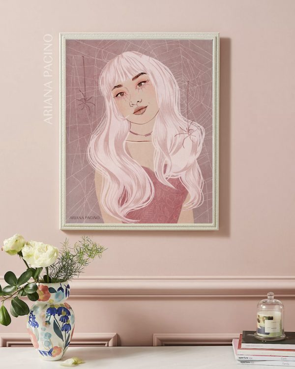 INH Spooky Candy Illustration Framed by Ariana Pacino LR