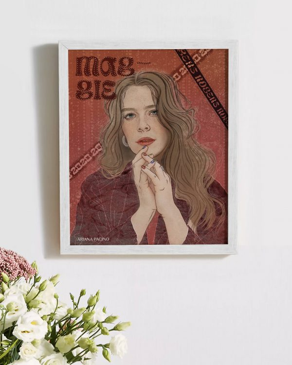 Framed Maggie Rogers Celebrity Portrait Editorial Illustration Music Poster Design Ariana Pacino scaled