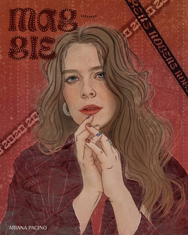 Maggie Rogers Celebrity Portrait Editorial Illustration Music Poster Design Web Ariana Pacino