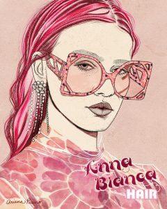 Pink 70s Inspired Illustration