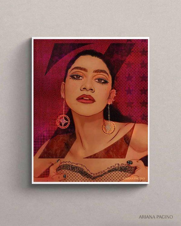 Zendaya Art Print