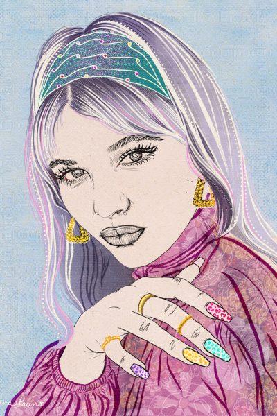 60's inpsired Beauty Fashion Illustration