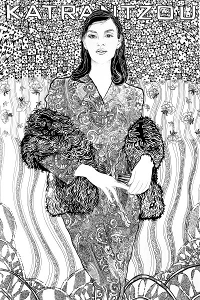 Mary Katrantzou Fashion Illustration Poster by Ariana Pacino