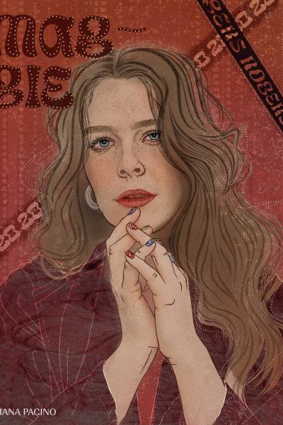 Maggie Rogers Musician/ Artist Illustration by Ariana Pacino. Celebrity Portraits based in Los Angeles. Prints available for sale.
